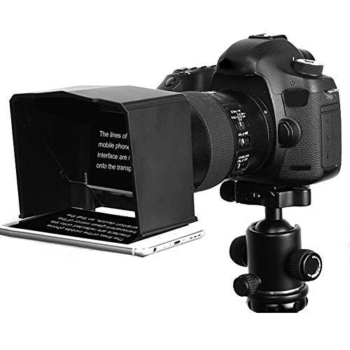 Vbestlife Teleprompter Portátil con 8 Anillos Adaptadores Lente de 49 mm a 77 mm Viene con Control Remoto Compatible con Android Teléfono Inteligente