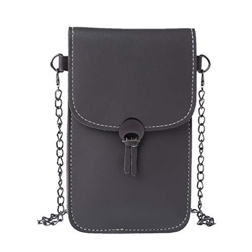 WanMei Handy-Geldbörse, PU-Crossbody-Tasche mit Touchscreen-Fenster, mehrlagige Handy-Kartenbörse, Schultertasche, Handtasche für Damen und Mädchen