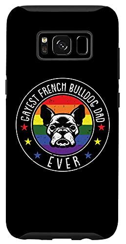 Galaxy S8 French Bulldog Dad LGBT-Q Gay Pride Frenchie Dog Lover Ally Case