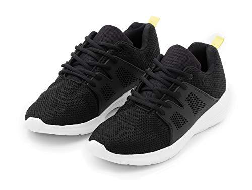 TEX - Zapatillas de Running para Hombre, Deporte, Negro, 43