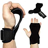 NetroxSports - Power Grips   Professionelle Zughilfen mit extra Grip   Für Bodybuilding, Gewichteheben, Crossfit & Fitness   Geeignet für schwere Gewichte echtes Leder   Herren & Damen (S)