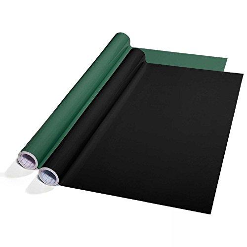 Tafelfolie Set selbstklebend | Sieger Preis-Leistung | Schnittlinien auf der Rückseite | ohne Rückstände ablösbar | Kreidetafel Alternative | Tafeltapete für Wand (schwarz, 60x300 cm)