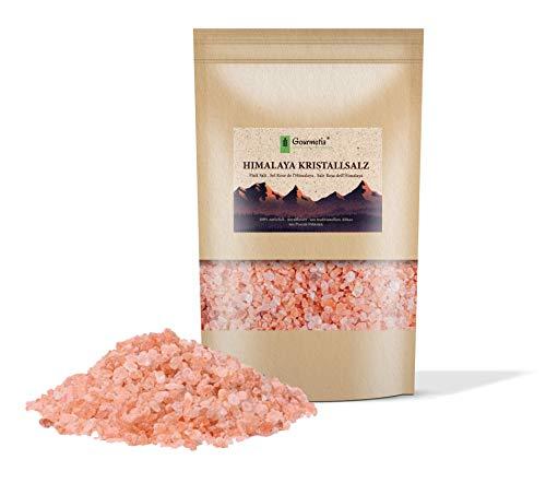 Gourmetia Himalaya Salz grob 2KG, Rosa Kristallsalz aus Punjab Pakistan, Steinsalz