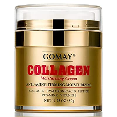 Collagen Cream for Anti-aging, Firming, Moisturizing, Face Moisturizer with Hydrolyzed Collagen, Hyaluronic Acid, Peptide, Vitamin C and E