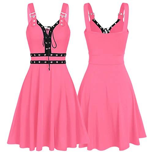Women Gothic Dress Plus Size Cool P…