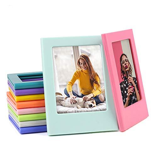 Mini marco magnético de fotos de 7,62 cm compatible con Polaroid Fujifilm Instax Mini 11 Mini 9 Mini 8 álbum de fotos de refrigerador pegatinas de refrigerador paquete de 10