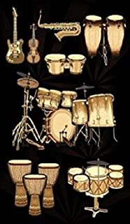 5 X 8 Musical Instruments Drums Guitars Sax Violin Congo Music Room Area