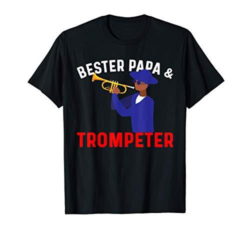 Herren Trompete Trompeter - Bester Papa & Trompeter T-Shirt