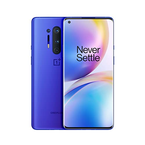 "OnePlus 8 Pro (5G) Smartphone ohne Vertrag, 12 GB RAM + 256 GB Speicher, 6.78"" (3D) Fluid AMOLED 120Hz Display, Wireless Fast Charging 4510mAh Akku, Dual Sim -  Blau"