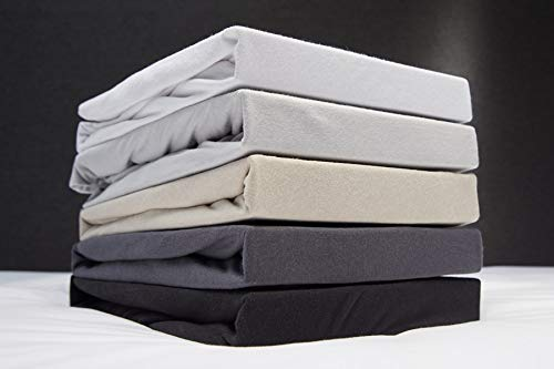 Beter Bed Jersey Hoeslaken voor Matras - 100% Katoen - 70/80/90 x 200/210/220 x 30 cm - Gebroken Wit