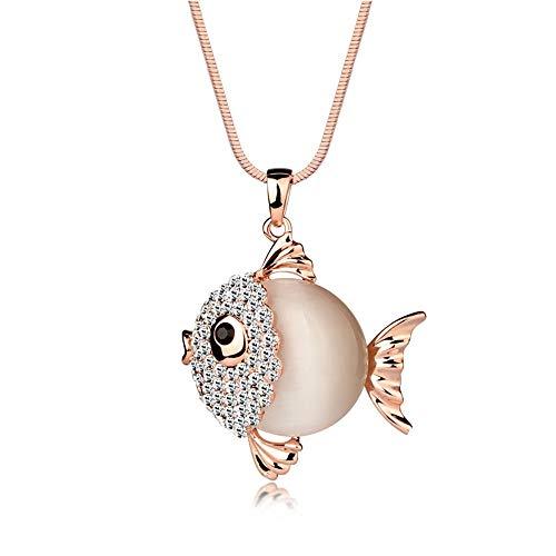 Domila Collana Creativa da Donna Lungo Maglione Catena Moda Ciondolo Selvaggio Abbigliamento Accessori Diamante Ciondolo Opale Donne