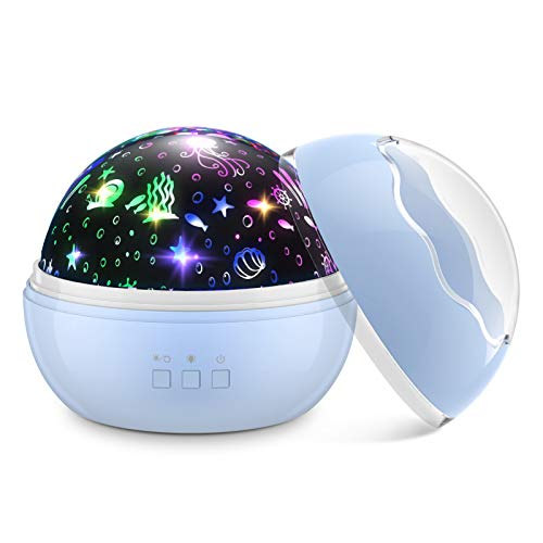 Dreamingbox Nachtlicht Baby, Spielzeug Junge 1-10 Jahre Geburtstags Geschenke für Mädchen 1-12 Jahre Baby Spielzeug Mädchen 1-10 Jahre Jungen Geschenke 1-12 Jahre Blau