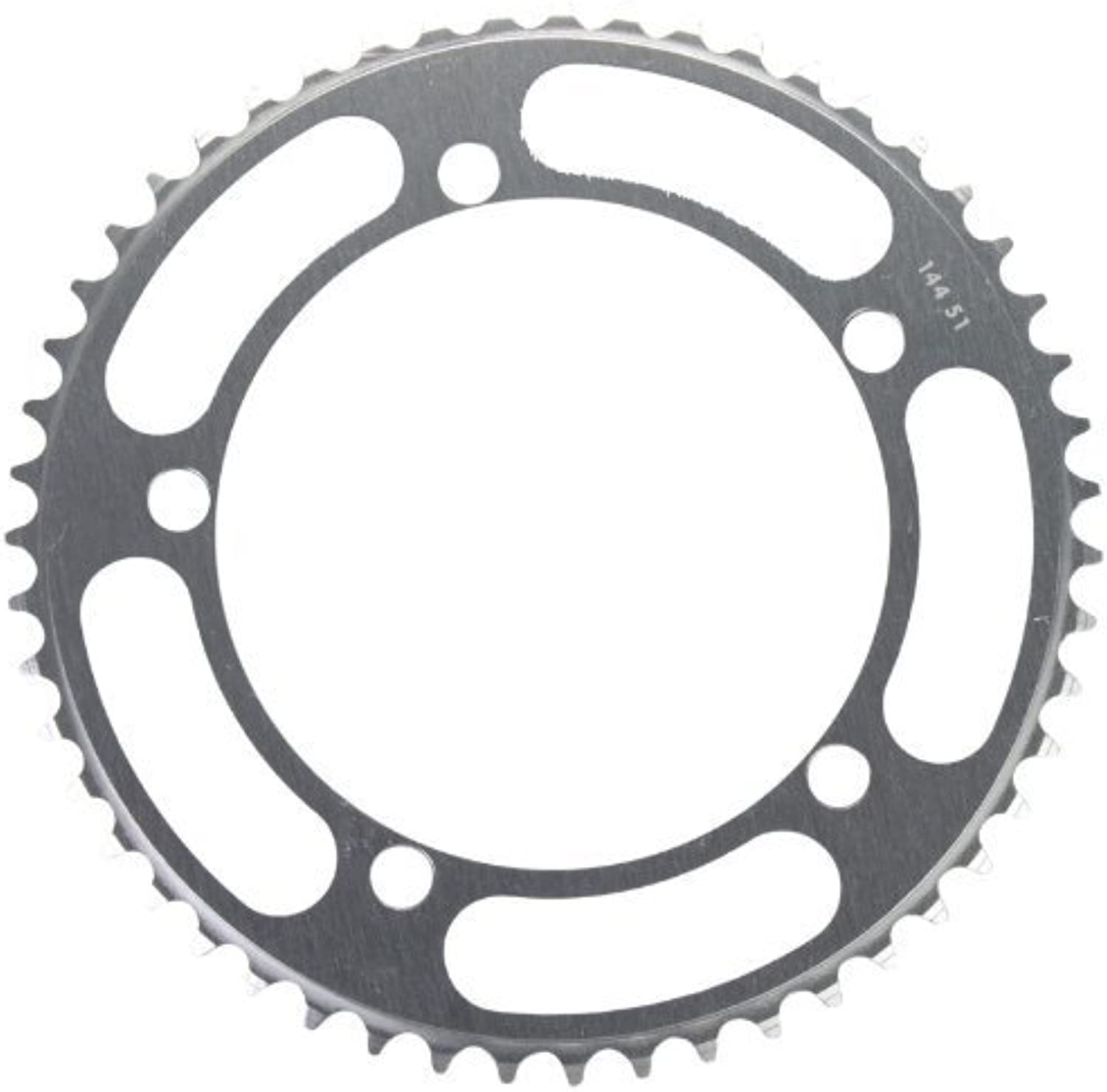 Rocket Alloy Chainring 144mm, 5Bolt 51T Silber 1 8Track Pitch by Rings