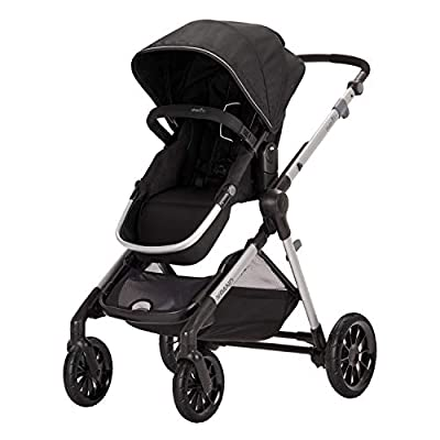 Evenflo Pivot Xpand, Modular Baby Stroller with Compact Folding design, Converts to Double Stroller (additional toddler seat not included), Stallion Black