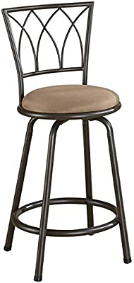 Groovy Amazon Com Powell Big And Tall Metal Crossed Legs Counter Squirreltailoven Fun Painted Chair Ideas Images Squirreltailovenorg