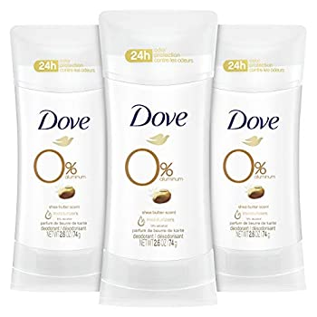 Dove Aluminum Free Deodorant 24hour Odor Protection Shea Butter Deodorant for Women 3 Count 2.6 Ounce