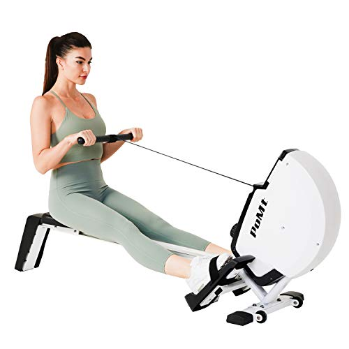 Indoor Foldable Rower w/LCD Monitor Compact Exercise Equipment 8 Levels Resistance Magnetic Rowing Machine for Home Gym Quiet Rower Machine for Home Use with Easy Storage, R120