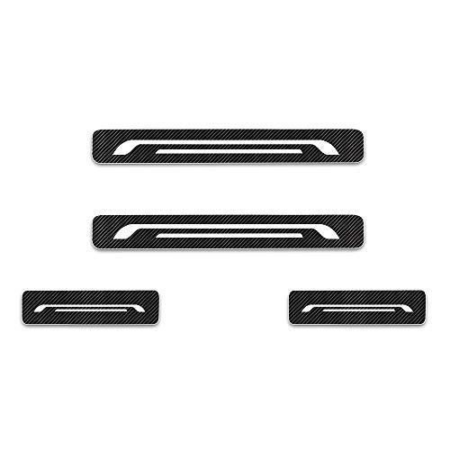 Einstiegsleiste Schutz Aufkleber Reflektierende Lackschutzfolie für Aygo Camry Yaris Auris Nouveau Prius Verso Avensis GT86 Land Cruiser CH-R Hilux Einstiegsleisten Weiß 4 Stück