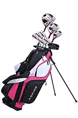 Premium Lightweight Ladies Golf Club Set Right Hand - Cherry Pink Purple, All Sizes - Standard, Petite, Tall, Clubs with Lady Flex