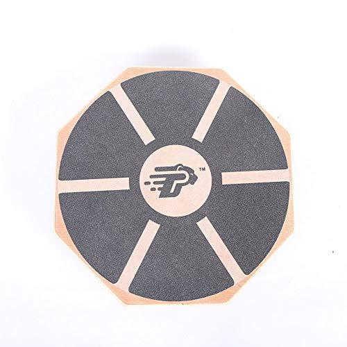 Balancín De Estabilidad De Tabla con Alfombrilla Cómoda De Diseño Ergonómico,Tabla De Equilibrio De Madera Octagonal LXJ (Color Madera)