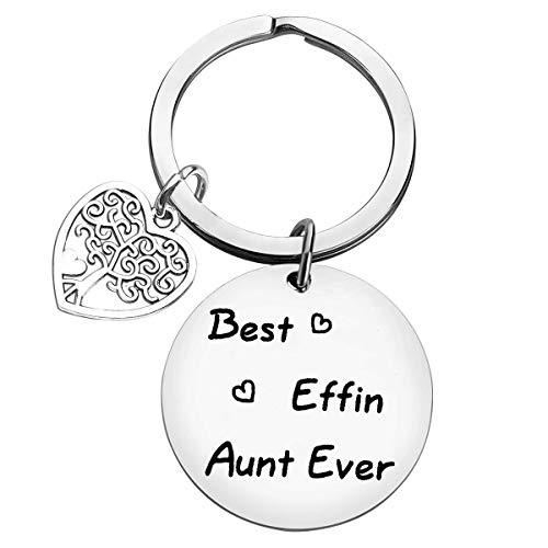 Aunt Keyring Aunt Gift Auntie Keyring Gift Aunty Keyring from Niece Nephew...