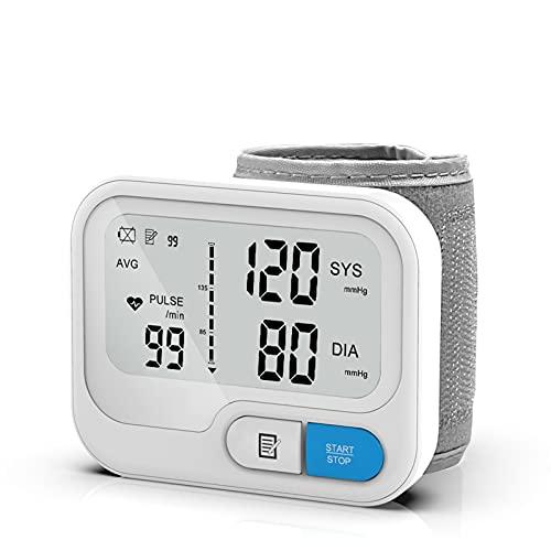 RONGXI Haushaltsgesundheitsmonitore, Blutdruckmanschette, automatischer digitaler Handgelenk-Blutdruckmessgerät, Herzfrequenz-Impulsmessgerät BP. Monitor, Speicherfunktion 90 Messwerte