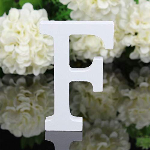 X-DAAO 26 Grandes Lettres en Bois de l'alphabet à Suspendre au Mur Décoration de la Maison Cadeau F