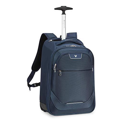 RONCATO Joy mochila trolley azul, medida: 43 x 32 x 18 cm, compartimentos interiores para la organización interna de todas tus cosas, Garantía de 3 años