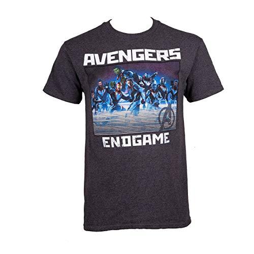 Avengers Endgame Camiseta masculina Heroes Lineup, Cinza, XXL