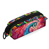 Borsa Penna Office Binder Elegante e bella Peacock Pouch School Pencil Case Big Zipper