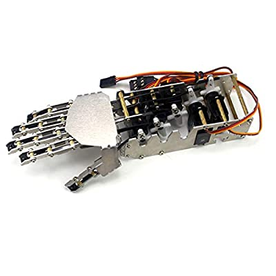 sainsmart 5DOF Humanoid Five Fingers Metal Manipulator Arm Right Hand with Servos for Robot DIY