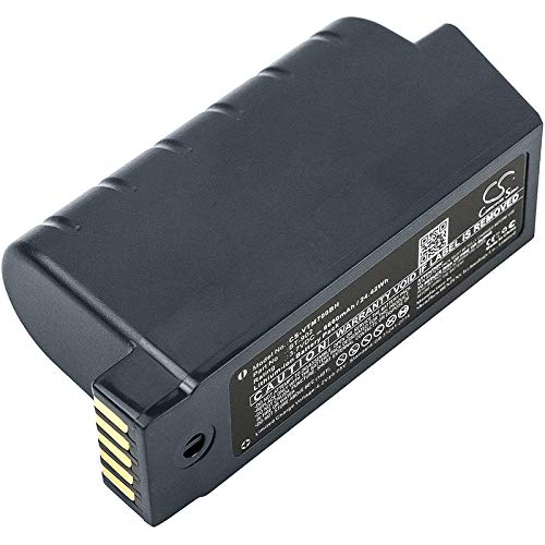 CS-VTM700BH Batteria 6600mAh compatibile con [VOCOLLECT] A700, A710, A720, A730, Talkman A700, Talkman A710, Talkman A720, Talkman A730 sostituisce 730044, BT-902