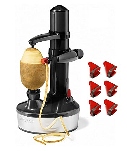 Starfrit Rotato Express 2.0 + 6 Replacement Blades | Updated Model - Electric Peeler (Black)