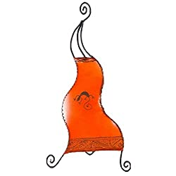 """Stehleuchte Standlampe Hennalampe Orientalische Lederlampe /""""Ibis H120 Orange/"""""""