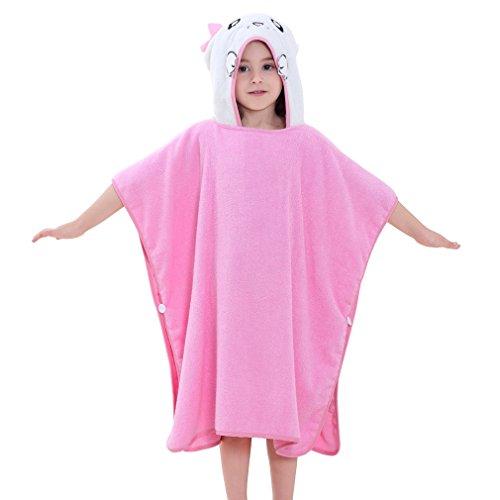 MICHLEY Niños Niñas Capucha Toallas de baño Bebé Albornoz Ropa Niño Suave Animal Algodón Manta Regalos para Bebes Poncho 70x70cm Apto para 2-6 años