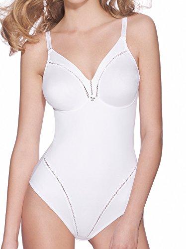 Lady Bella P6739 Body Reductor para Mujer en Copas D - Faja Moldeadora sin Aros, preformada, no Acolchada y sin Costuras - Body Interior de Doble Tela para un Vientre Plano (Beige, 110D) ⭐