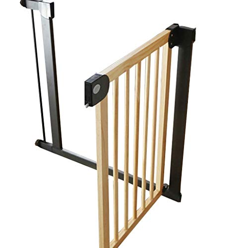 Huo Wood Pet Gates -Barrière de Sécurité for Bébé Montée sous Pression, Promenade Facile À Travers Les Portes (Size : Width 132-139cm)