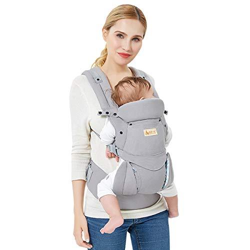 Babytrage Neugeborene Babytrage Ergonomische Reine Baumwolle Leicht und atmungsaktiv Einstellbar für Neugeborene von 0 bis 3 Jahren (3,5 bis 20 kg) Multiposition(Dorsal/Ventral )