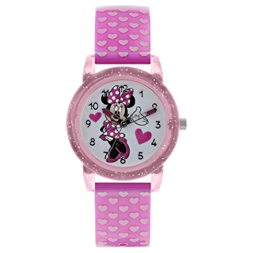 Minnie Mouse Reloj Analógico para Niñas de Cuarzo con Correa en Plástico MN9036