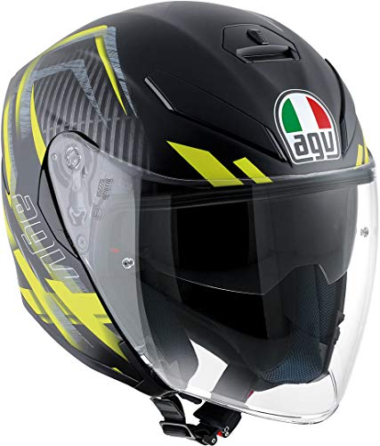 AGV Casco Moto K-5 Jet E2205 Multi, Urban Hunter Matt Black/Yellow, S