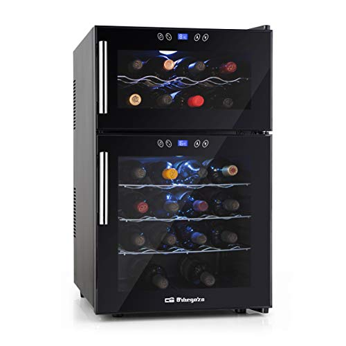 Orbegozo VT 2410 – Vinoteca 24 botellas, 52 litros de capacidad, temperatura regulable, panel táctl, display digital, luz...