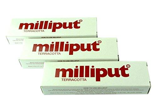 Proops 3x Milliput Putty Terracotta 2Teil Epoxid-Kitt. Modell, Keramik, Reparatur, (x1016b) kostenlos uk Versandkosten