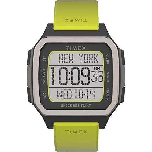 Timex Reloj Command Urban de 47 mm para hombre, Amarillo ácido/Negro, Chronograph