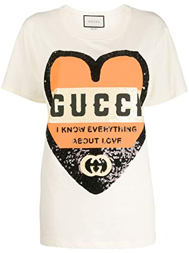 Luxury Fashion | Gucci Dames 492347XJB729756 Wit Katoen T-shirts | Lente-zomer 20