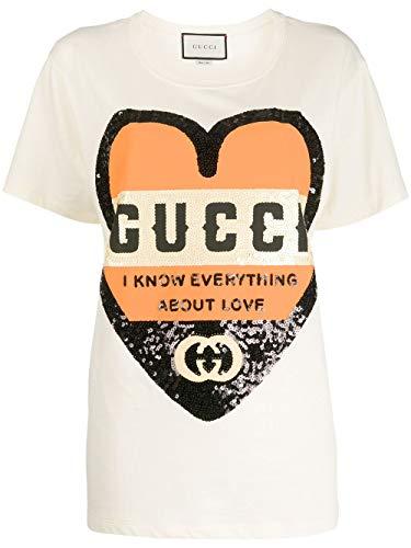 Luxury Fashion | Gucci Dames 492347XJB729756 Wit Katoen T-shirts | Lente-zomer 20