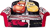 Marshmallow Furniture 2-in-1 Flip Open Foam Couch Bed Sleeper Sofa Kid's Furniture for Ages 18 Months and Up, Disney Pixar Cars 3