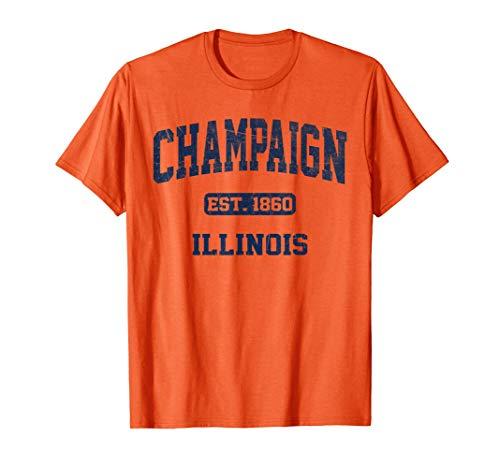 Champaign Illinois IL vintage University & College Style T-Shirt