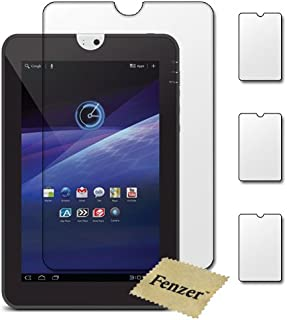 3 Pack Fenzer Clear Screen Protectors for Toshiba Thrive 10.1 inch Tablet Transparent LCD Touch Screen Film Guard Cover Shields with Cleaning Cloth