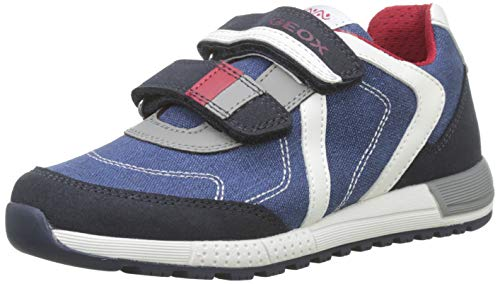 Geox J Alben Boy B, Zapatillas para Niños, Azul (Navy/Red C0735), 35 EU