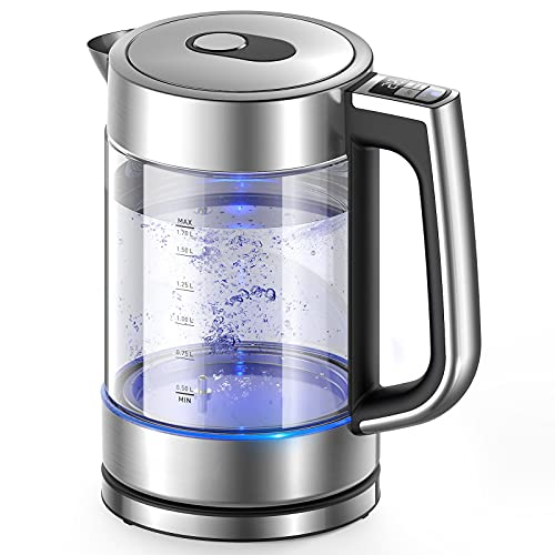 Electric Kettle, Variable Temperature Tea Kettle 1.7L, 1500W Fast Boil Glass Water Kettle w/ 1Hr Keep Warm Function, Premium Stainless Steel BPA-Free Electric Tea Kettle, Boil-Dry Protection